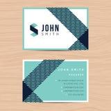 Moderne und saubere Designvisitenkarteschablone im abstrakten Hintergrund Druck der Designschablone stock abbildung