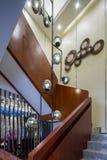 Moderne van de het ontwerpvilla van het luxe binnenlandse huis de tredendecoratie Stock Fotografie