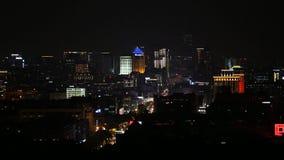 Moderne van het stadshorizon en bureau gebouwen in Hangzhou stock footage