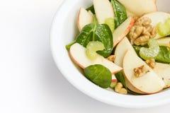 Moderne variatie van waldorfsalade stock foto
