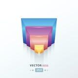 Moderne vector abstracte driehoeks roze, blauwe, oranje, Purpere kleur Stock Afbeelding