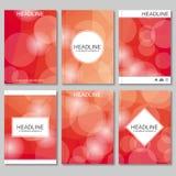 Moderne vectormalplaatjes voor brochure Royalty-vrije Illustratie