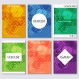 Moderne vectormalplaatjes voor brochure, bedrijfsvlieger, dekkingstijdschrift of rapport in A4 grootte Vector Illustratie