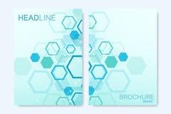 Moderne vectormalplaatjes voor brochure, dekking, banner, vlieger, jaarverslag, pamflet Abstracte kunstsamenstelling met royalty-vrije illustratie