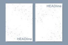 Moderne vectormalplaatjes voor brochure, dekking, banner, vlieger, jaarverslag, pamflet Abstracte kunstsamenstelling met stock foto's