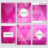 Moderne vectormalplaatjes voor brochure, vlieger, dekkingstijdschrift of rapport in A4 grootte Vector Illustratie