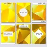 Moderne vectormalplaatjes voor brochure, vlieger, dekkingstijdschrift of rapport in A4 grootte Stock Illustratie