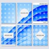 Moderne vectormalplaatjes voor brochure, vlieger, dekkingstijdschrift of rapport in A4 grootte Abstracte Gebogen Lijnen Vector Illustratie