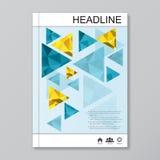 Moderne vectormalplaatjes voor brochure, vlieger, dekkingstijdschrift of rapport in A4 grootte Abstracte geometrisch Stock Illustratie