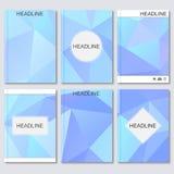 Moderne vectormalplaatjes voor brochure, vlieger, dekkingstijdschrift of rapport in A4 grootte Abstracte geometrische achtergrond Stock Illustratie