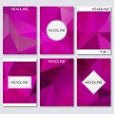 Moderne vectormalplaatjes voor brochure, vlieger, dekkingstijdschrift of rapport in A4 grootte Abstracte geometrische achtergrond Vector Illustratie