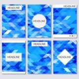 Moderne vectormalplaatjes voor brochure, vlieger, dekkingstijdschrift of rapport in A4 grootte Abstracte geometrische achtergrond Royalty-vrije Illustratie