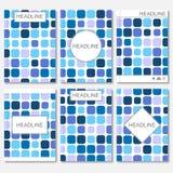 Moderne vectormalplaatjes voor brochure, vlieger, dekkingstijdschrift of rapport in A4 grootte Abstracte mozaïekachtergrond Vecto Stock Illustratie