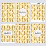 Moderne vectormalplaatjes voor brochure, vlieger, dekkingstijdschrift of rapport in A4 grootte geometrisch naadloos patroon Vecto Royalty-vrije Illustratie