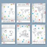 Moderne vectorreeks van brochures, tijdschrift, vlieger, boekje, dekking of rapport in A4 grootte Zie mijn andere werken in porte vector illustratie
