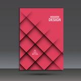 Moderne Vektorbroschüren-Designschablone mit abstrakter Linie Stockfotografie