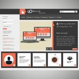 Moderne Vektorillustration der Website-Schablonen-ENV 10 Lizenzfreie Stockfotos
