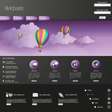 Moderne Vektorillustration der Website-Schablonen-ENV 10 Lizenzfreie Stockbilder