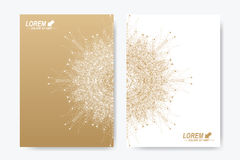 Moderne Vektorschablone für Broschüre, Broschüre, Flieger, Abdeckung, Zeitschrift oder Jahresbericht Stockfotografie