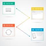 Moderne Vektorzeitachse-Designschablone Lizenzfreie Stockfotos