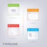 Moderne Vektorzeitachse-Designschablone Stockfoto
