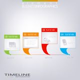 Moderne Vektorzeitachse-Designschablone Stockbild