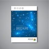 Moderne Vektorzusammenfassungsbroschüren-Designschablone Stockfoto