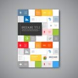 Moderne Vektorzusammenfassungsbroschüren-Designschablone Stockbilder