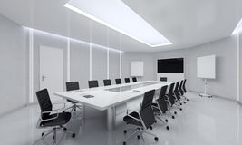 Moderne vergaderingsruimte 3D Illustratie Royalty-vrije Stock Foto's