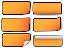 Moderne Verkaufsmarken - sechs Typen Stockbild