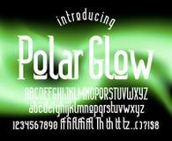 Moderne vertoning gecondenseerde serif doopvont Stock Foto