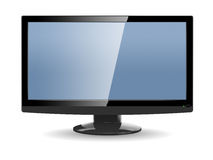 Moderne vertoning met groot scherm stock illustratie