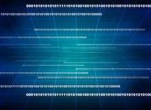 Moderne vertoning van gegevensbroncode Stock Foto