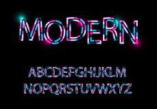 Moderne verzerrtes Schriftbild des Zusammenfassungsgusses modische Art stockfoto