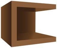 Moderne vierkante houten nightstand Stock Afbeeldingen