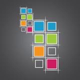 Moderne vierkanten Royalty-vrije Stock Afbeelding