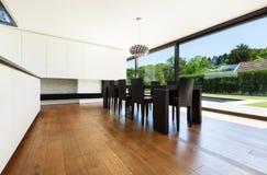 Moderne villa Stock Afbeeldingen