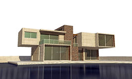 Moderne Villa stock abbildung