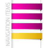 Moderne violette Navigationsfelder im rechten Stab Lizenzfreies Stockfoto