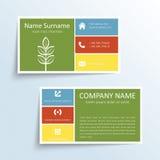 Moderne Visitenkarte Lizenzfreies Stockfoto