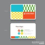 Moderne Visitenkarte-Design-Schablone Lizenzfreie Stockfotos