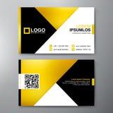 Moderne Visitenkarte-Design-Schablone Stockbild