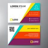 Moderne Visitenkarte-Design-Schablone Stockfoto