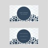 Moderne Visitenkarteschablone mit Blasen Stockbilder