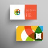 Moderne Visitenkarteschablone mit flacher Benutzerschnittstelle Lizenzfreie Stockfotografie