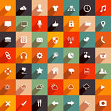 Moderne vlakke pictogrammen Stock Afbeeldingen