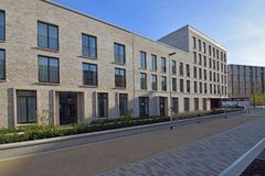 Moderne vlakten in Eddington, Noordwestencambridge Royalty-vrije Stock Fotografie