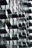 Moderne vlakten met balkons Stock Afbeelding