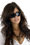 Moderne vorbildliche tragende Brillen Stockfotografie
