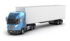 Moderne vrachtwagen met ladingscontainer vector illustratie